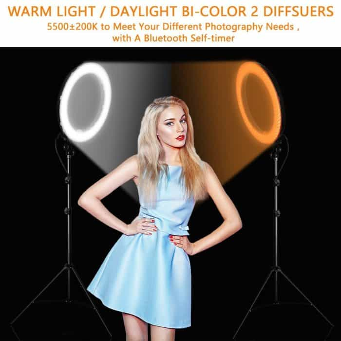 Ring Light with Stand Dimmable LED