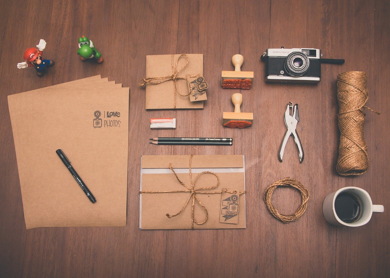 A bunch of items that are on a table